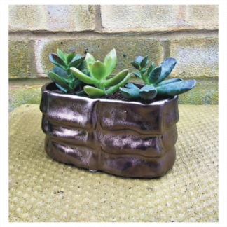 Bronze Effect Oval Planter