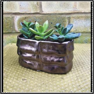 Bronze Effect Oval Planter