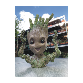 Groot With Arms Up Planter With Succulent Hair