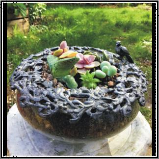 Victorian Style Bird Bath Planter